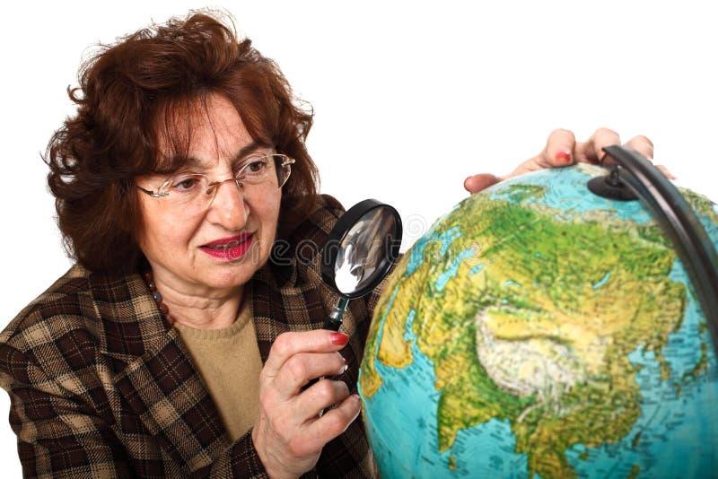Programma di mondo e dell'insegnante fotografia stock libera da diritti