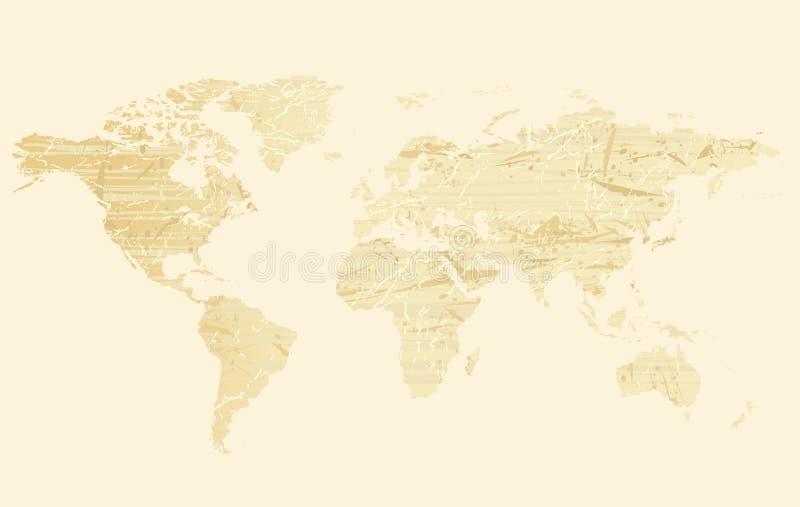 Programma di mondo (grunge) royalty illustrazione gratis