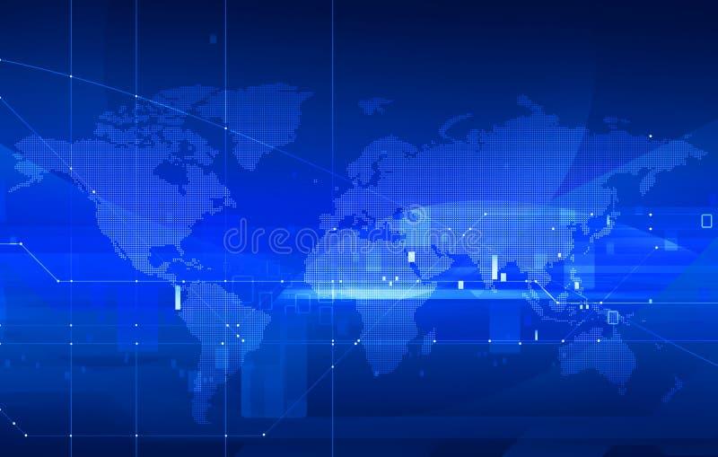 Programma di mondo punteggiato illustrazione vettoriale