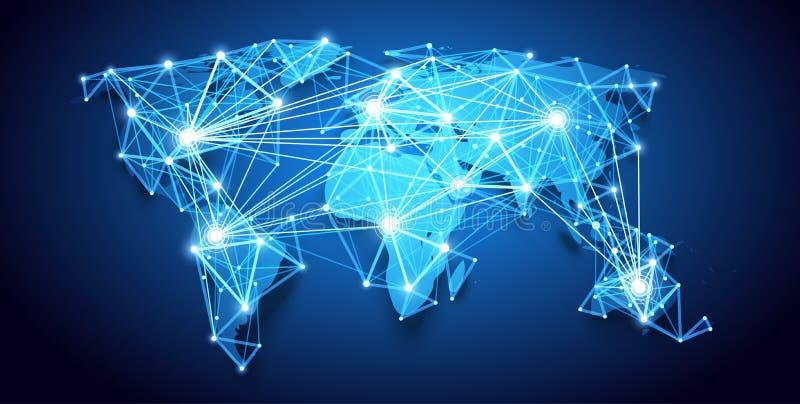 Programma di mondo Rete globale Vettore illustrazione vettoriale