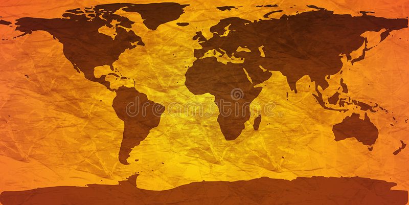 Programma di mondo sgualcito illustrazione vettoriale