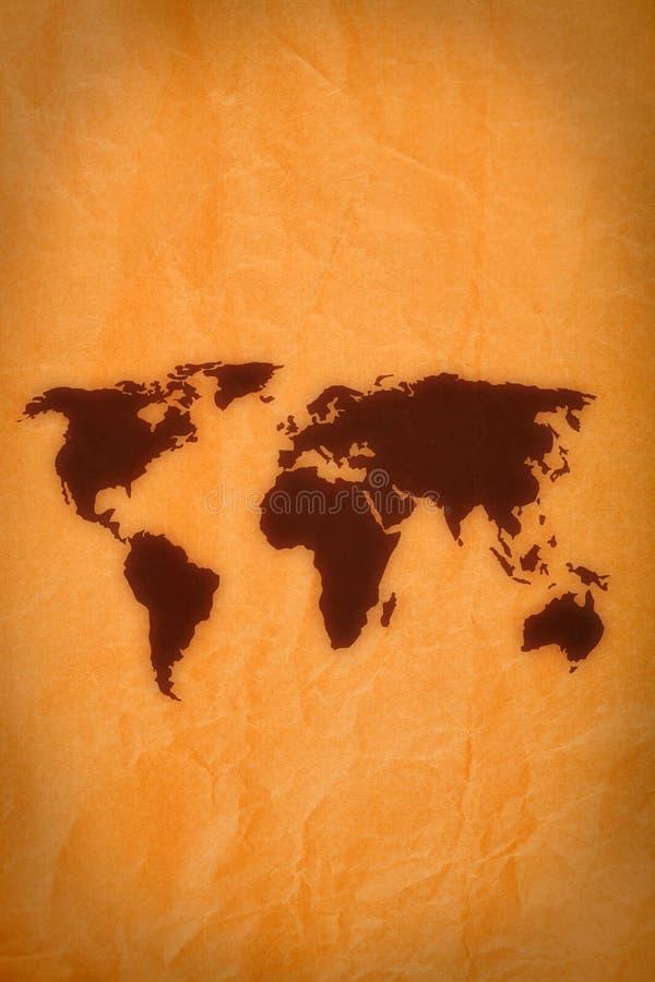 Programma di mondo su vecchio documento royalty illustrazione gratis
