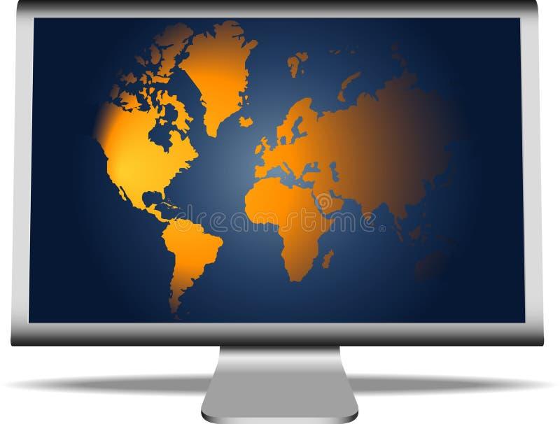 Download Programma Di Mondo Sul Video Illustrazione Vettoriale - Illustrazione di video, colori: 7315270