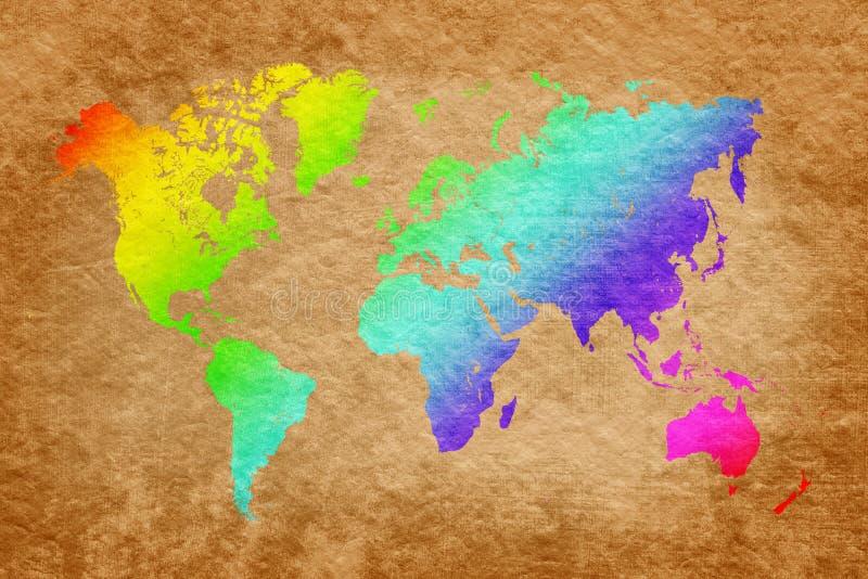 Programma di mondo sulla priorità bassa del grunge immagini stock libere da diritti