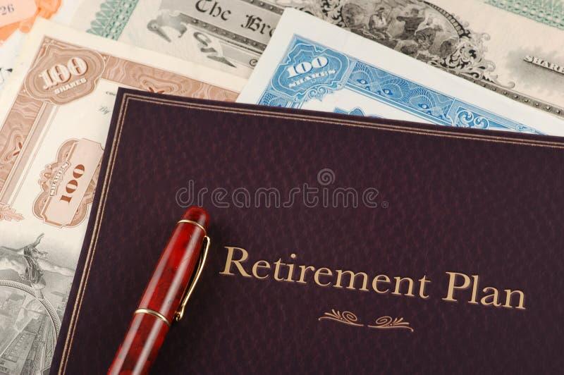 Programma di pensione immagine stock libera da diritti