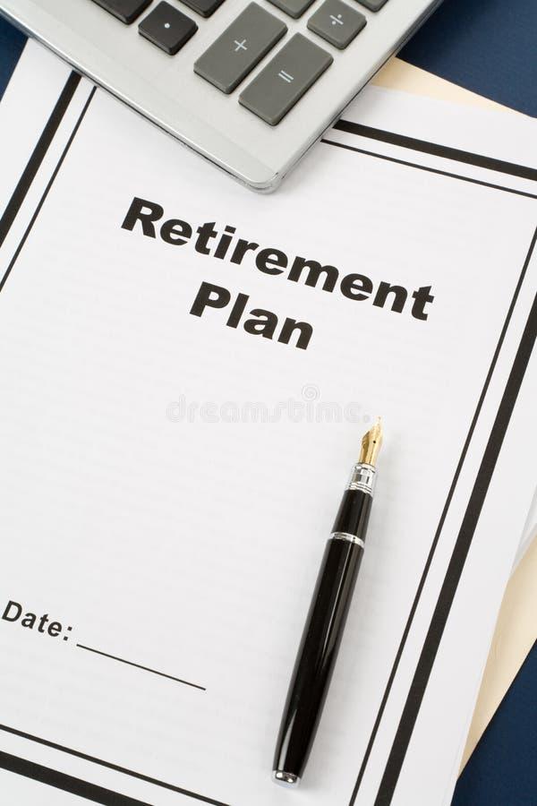 Programma di pensione fotografie stock