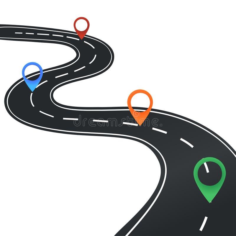 Programma di strada con gli indicatori royalty illustrazione gratis