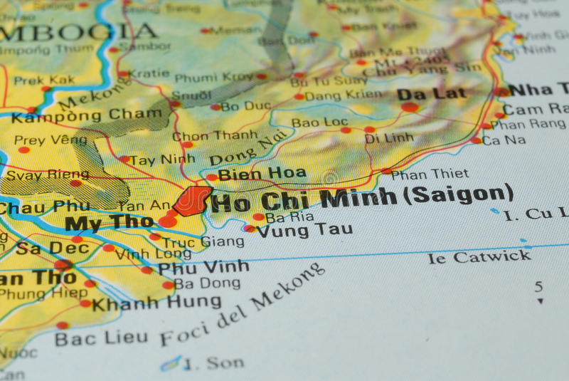 Programma di strada di Ho Chi Minh immagine stock libera da diritti