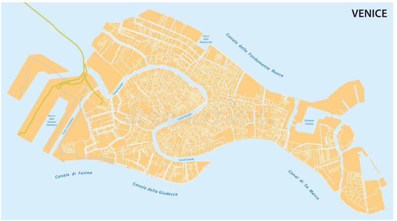 Programma di strada di Venezia illustrazione di stock