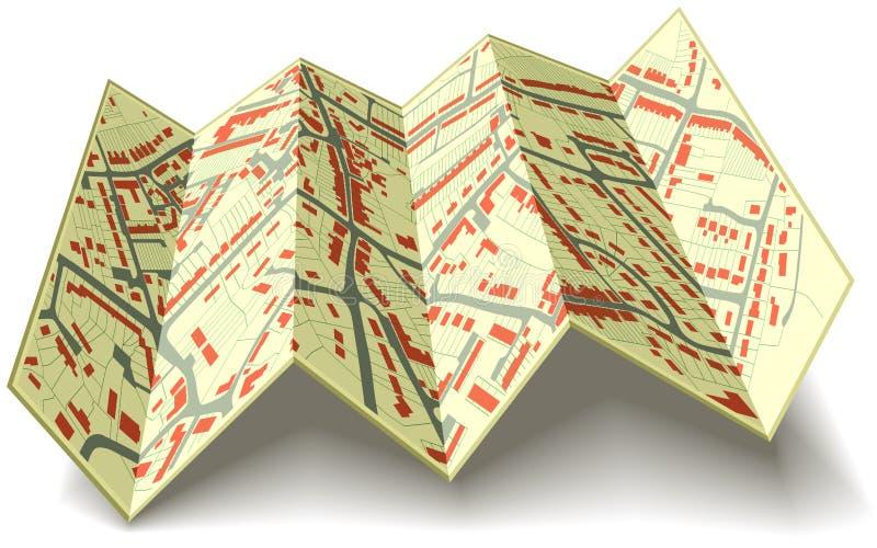 Programma di via piegante illustrazione vettoriale