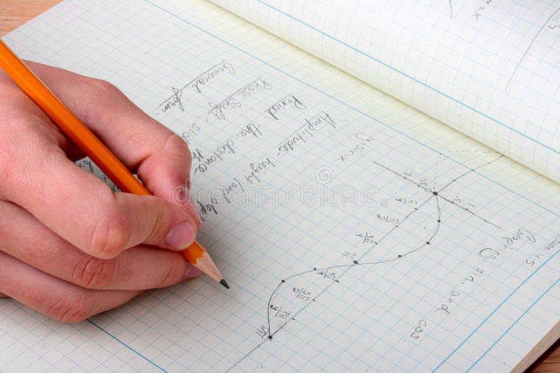 Programma matematico immagini stock