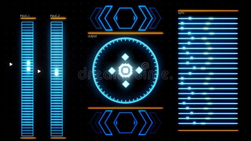Programma sullo schermo di computer interrotto dal messaggio di guasto del sistema, concetto digitale di sicurezza animazione seg illustrazione vettoriale