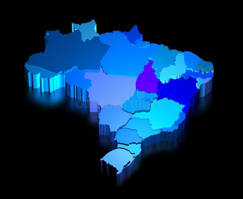 Programma tridimensionale del Brasile con le condizioni illustrazione vettoriale