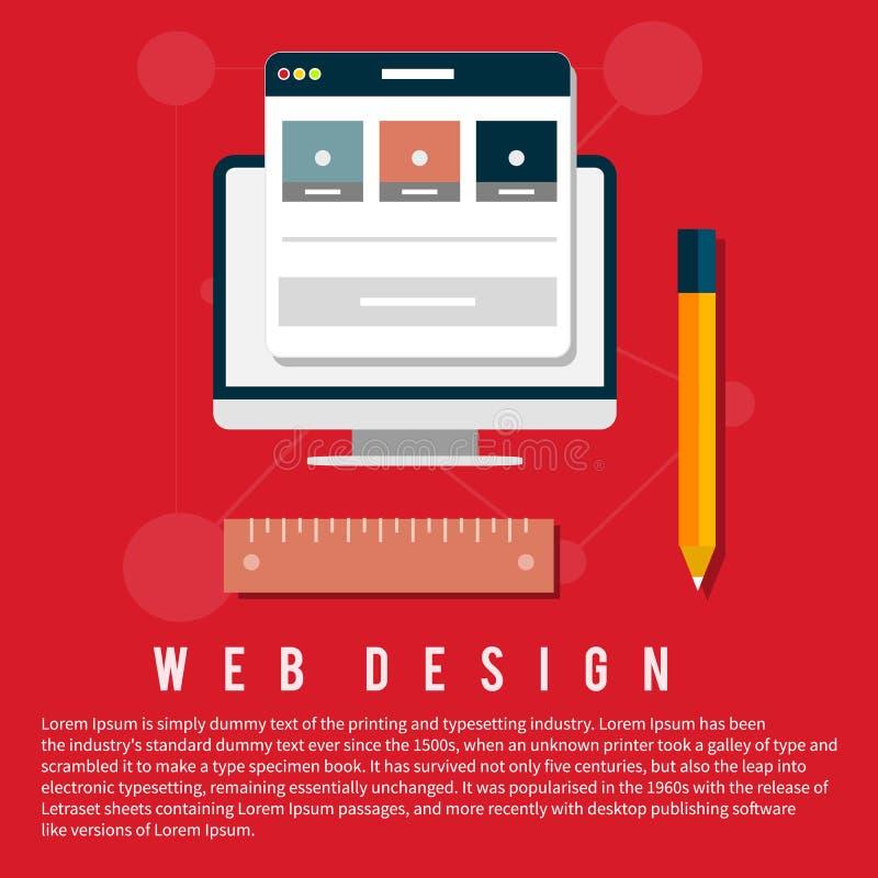 Programma voor ontwerp en architectuur stock illustratie