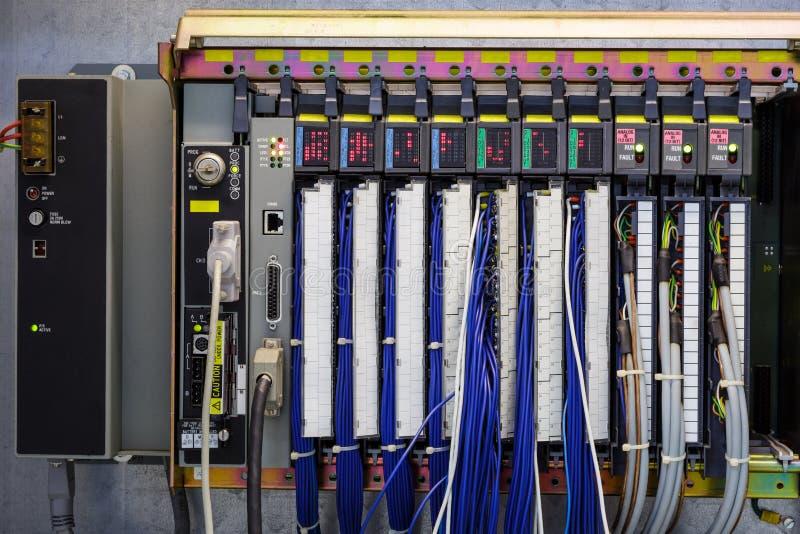 Programmable logika kontroler w przemysle obraz stock