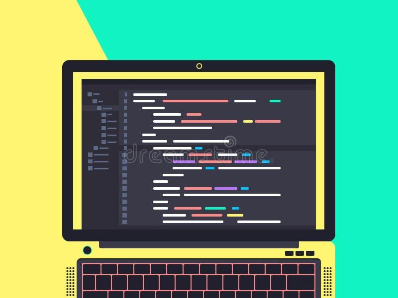 Programmando e codificando concetto fotografia stock libera da diritti