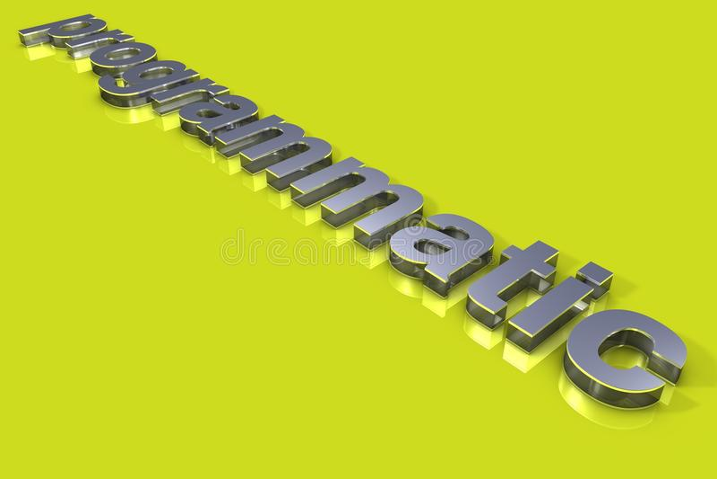 Programmatic 3D Titel vector illustratie