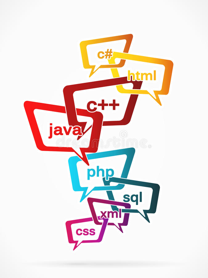 Programmation d'Internet illustration de vecteur