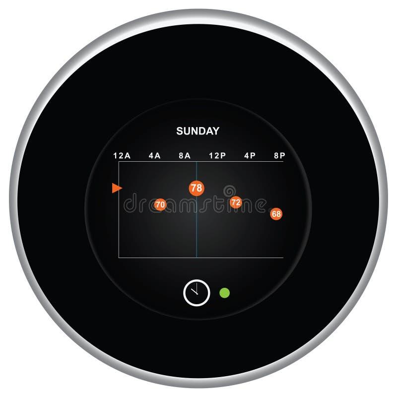Programmation de thermostat de nid illustration de vecteur