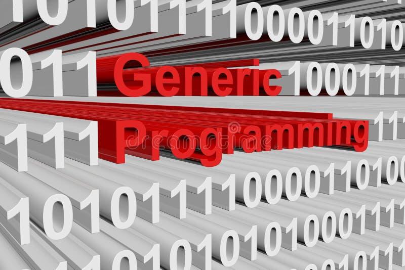 Programmation générique illustration de vecteur