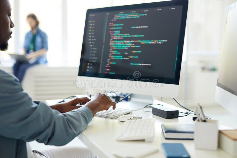 Programmation par ordinateur images stock