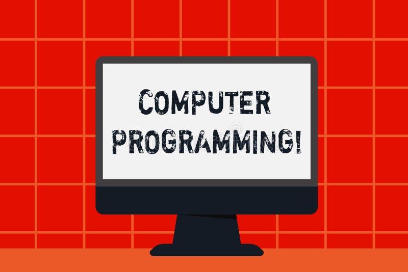 Programmation par ordinateur conceptuelle d'apparence d'écriture de main Processus des textes de photo d'affaires qui instruit u illustration libre de droits
