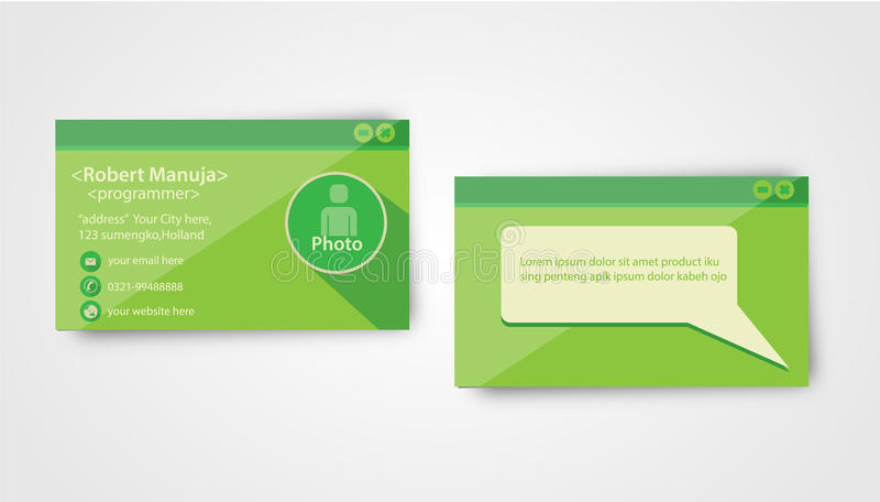 Programmatore Business Card Template fotografia stock libera da diritti