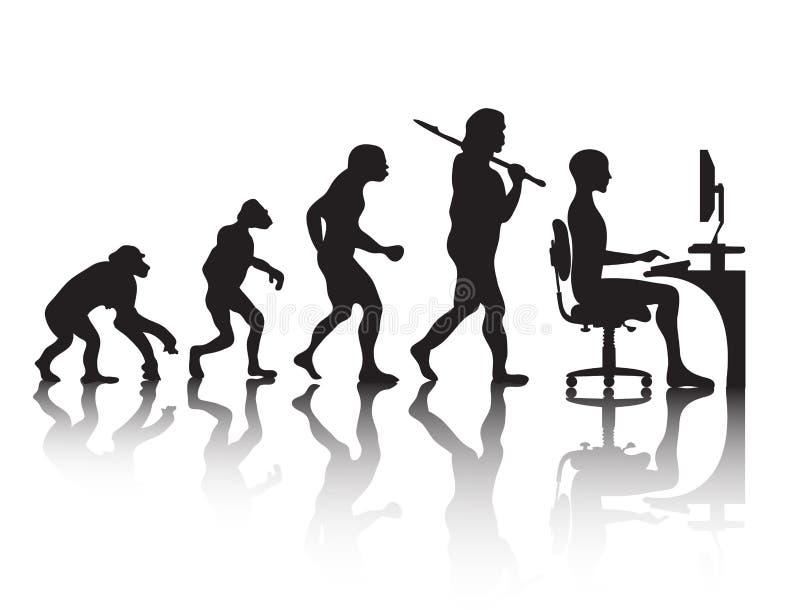 Programmatore di evoluzione royalty illustrazione gratis