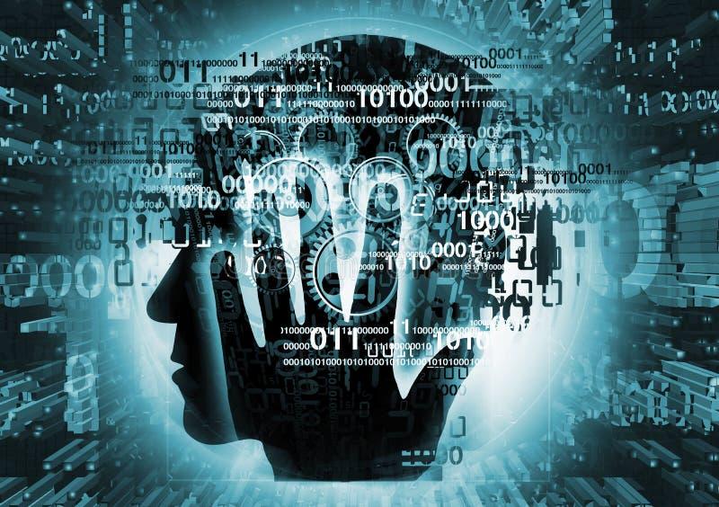 Programmatore, siluetta dello specialista in materia di computer royalty illustrazione gratis