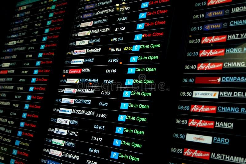 Programme d'aéroport photographie stock