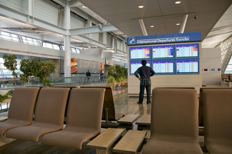 Programme d'Aiport photo stock