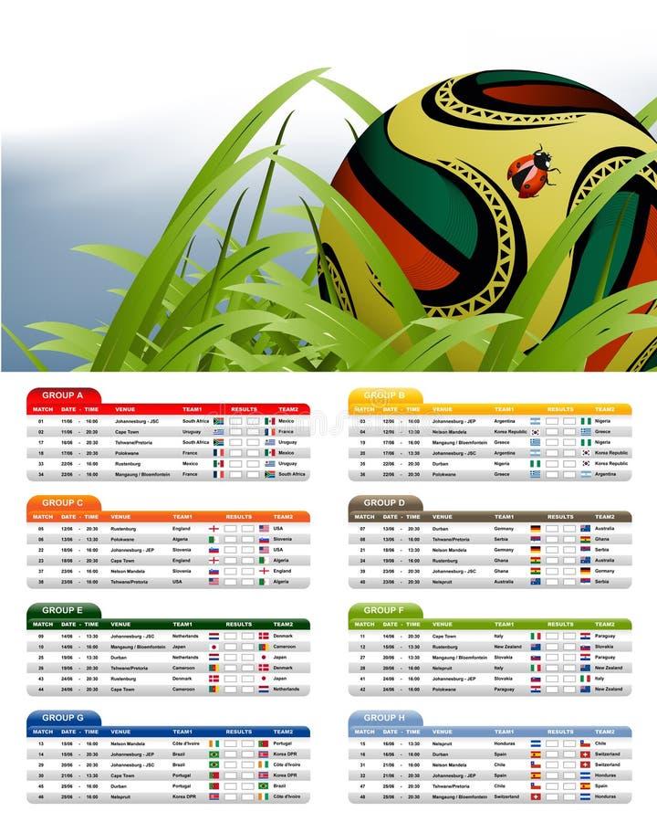 Programme d'allumette de l'Afrique du Sud 2010 illustration libre de droits