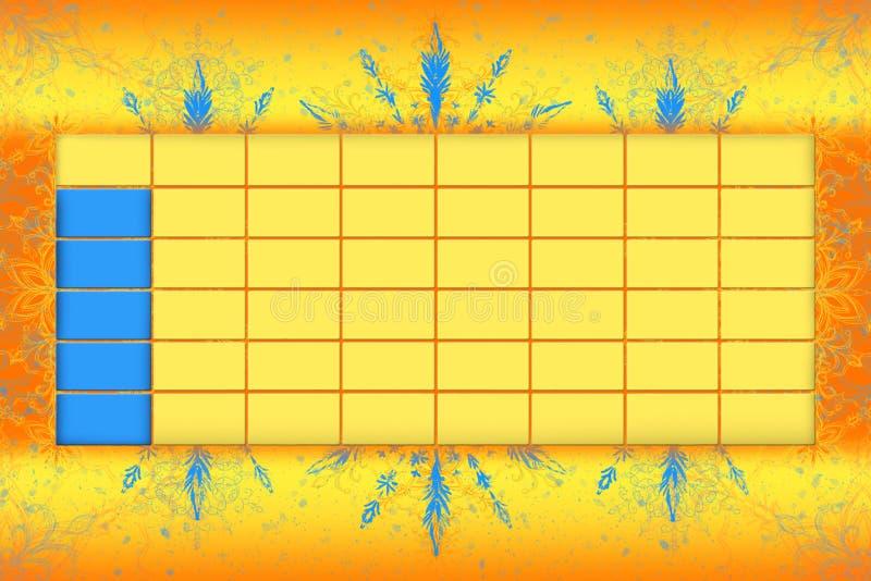 Programme d'horaire d'école avec l'illustrat du fond 3D de Colorfull illustration libre de droits