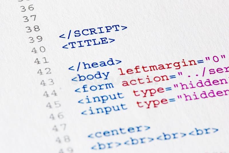Programme de code source image stock