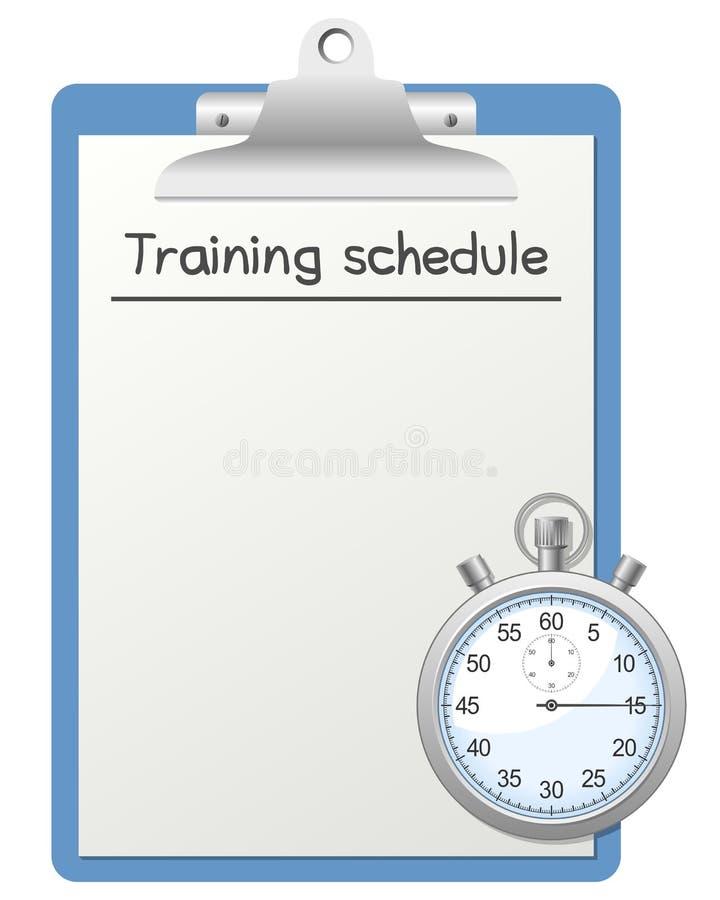 Programme de formation et chronomètre illustration de vecteur