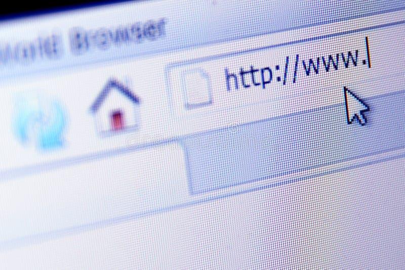 Programme de lecture d'Internet image libre de droits