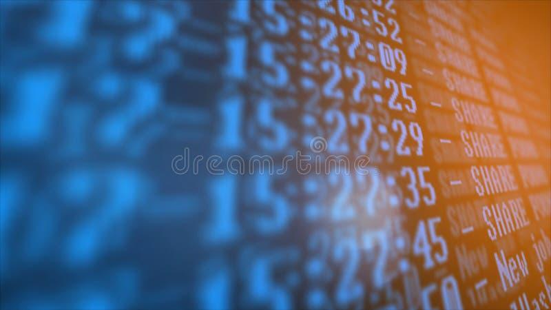 Programme de processus de Cryptocurrency d'exploitation sur le PC d'affichage Utilisant le logiciel Part trouvée illustration libre de droits