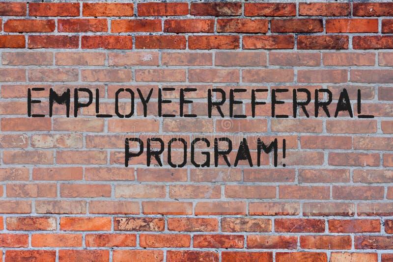 Programme de référence des employés des textes d'écriture La signification de concept recommandent le mur de briques droit de cou illustration libre de droits