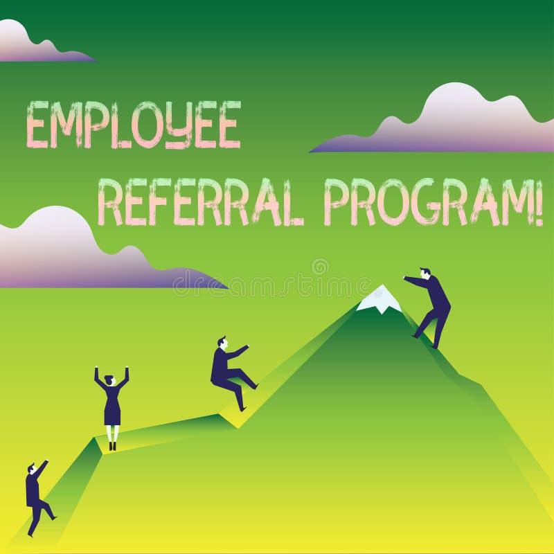 Programme de référence des employés des textes d'écriture de Word Concept d'affaires pour la méthode interne de recrutement utili illustration libre de droits