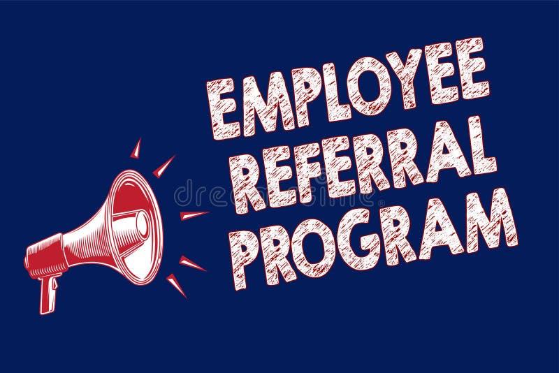 Programme de référence des employés des textes d'écriture de Word Le concept d'affaires pour des employés recommandent les parent illustration libre de droits