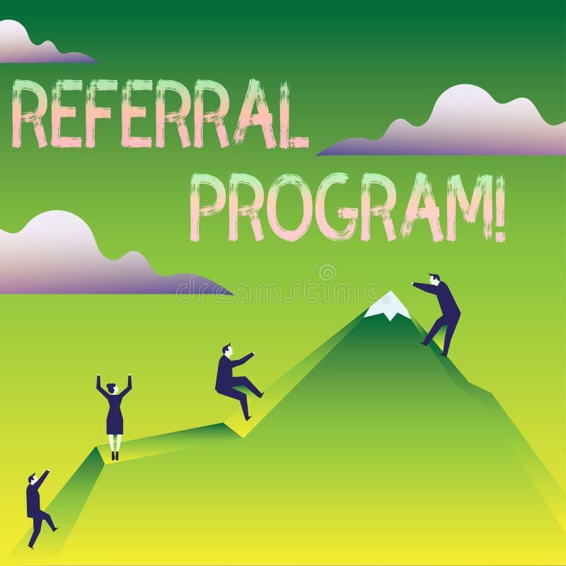 Programme de référence des textes d'écriture de Word Concept d'affaires pour la méthode interne de recrutement utilisée par des a illustration stock