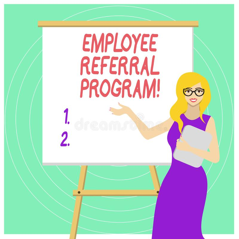 Programme de r?f?rence des employ?s des textes d'?criture Méthode interne de recrutement de signification de concept utilisée par illustration libre de droits