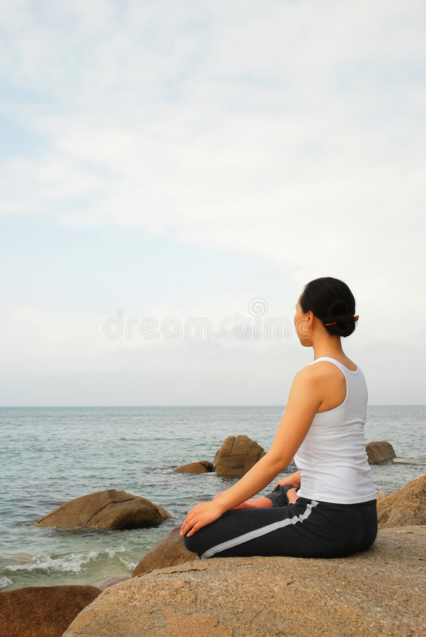 Programme test de yoga images libres de droits
