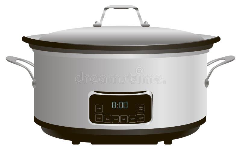 Programmeerbaar Langzaam Kooktoestel vector illustratie
