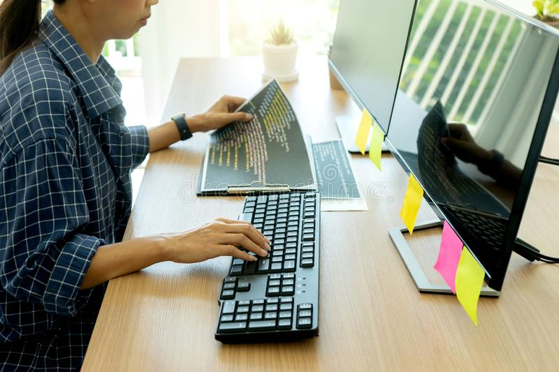 programmer work with Developing programming stock photography