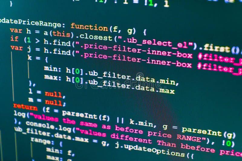 Programmera abstrakt algoritmbegrepp för workflow fotografering för bildbyråer
