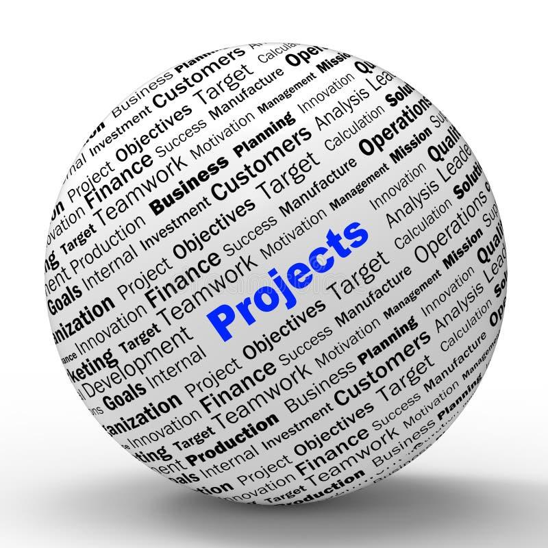 Programmera för hjälpmedel för projektsfärdefinition royaltyfri illustrationer