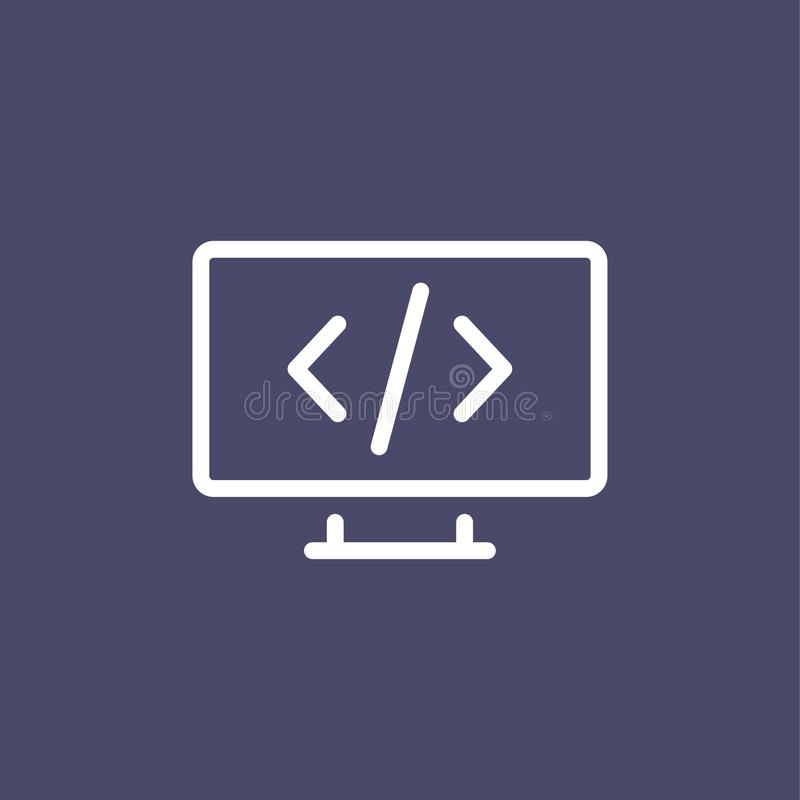Programmera för stilöversikt för symbol den enkla plana illustrationen vektor illustrationer