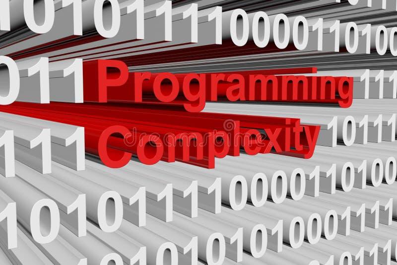 Programmera komplexitet royaltyfri illustrationer