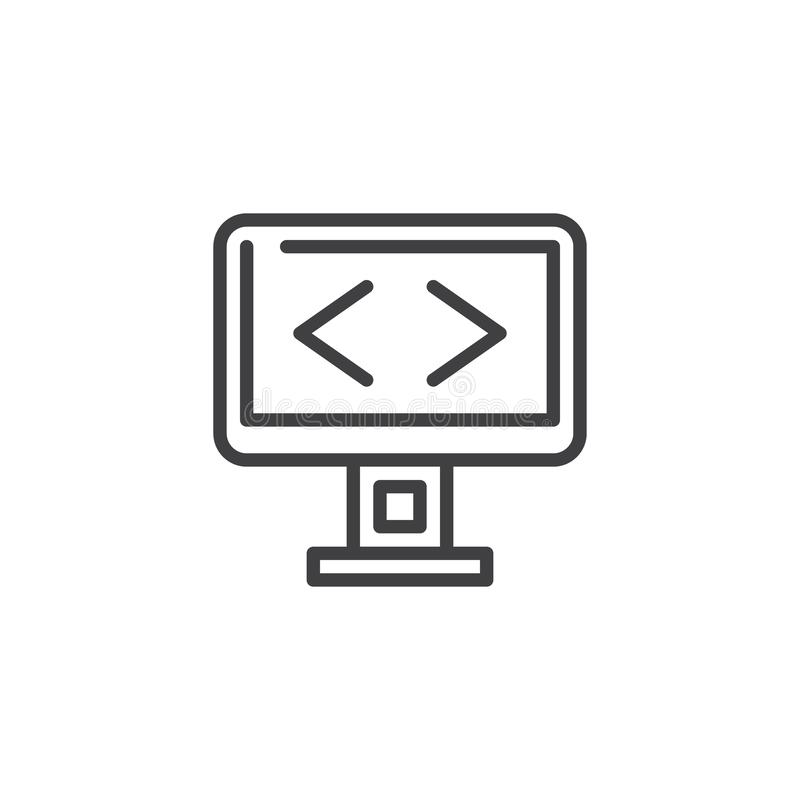 Programmera skärmlinjen symbol royaltyfri illustrationer